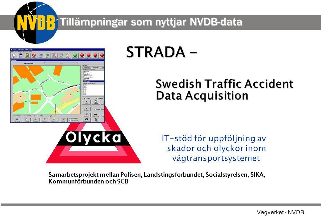 STRADA - Tillämpningar som nyttjar NVDB-data