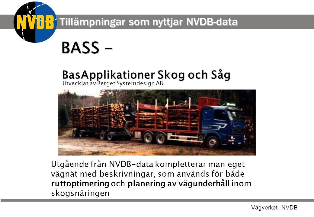 BASS - Tillämpningar som nyttjar NVDB-data