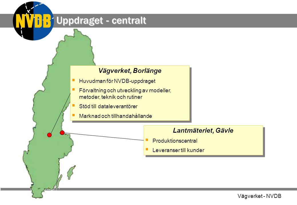 Uppdraget - centralt Vägverket, Borlänge Lantmäteriet, Gävle