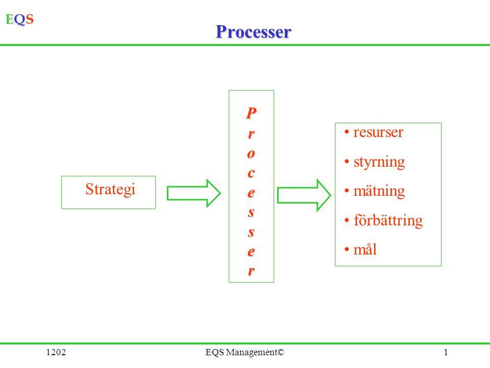 Processer P r o resurser c styrning e s mätning förbättring mål