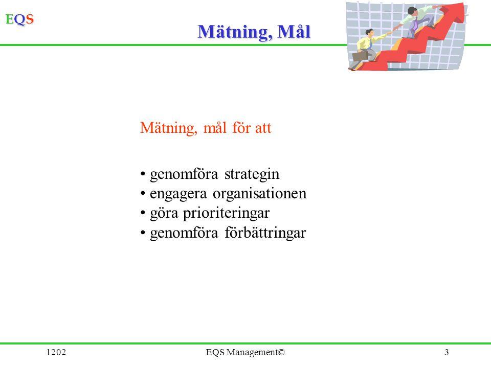 Mätning, Mål Mätning, mål för att genomföra strategin