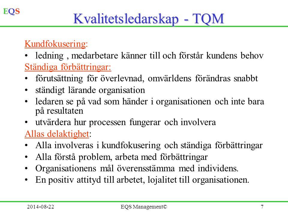 Kvalitetsledarskap - TQM