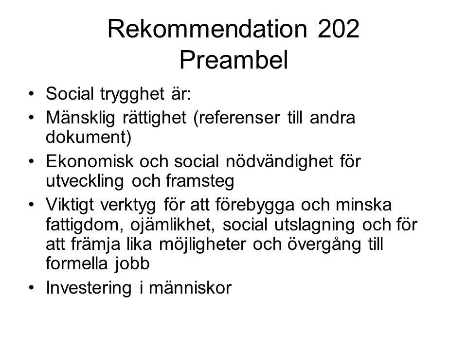 Rekommendation 202 Preambel