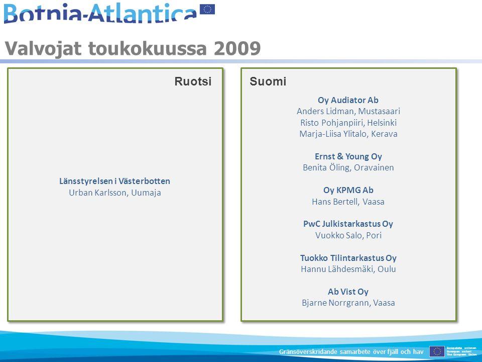 Valvojat toukokuussa 2009 Ruotsi Suomi Oy Audiator Ab