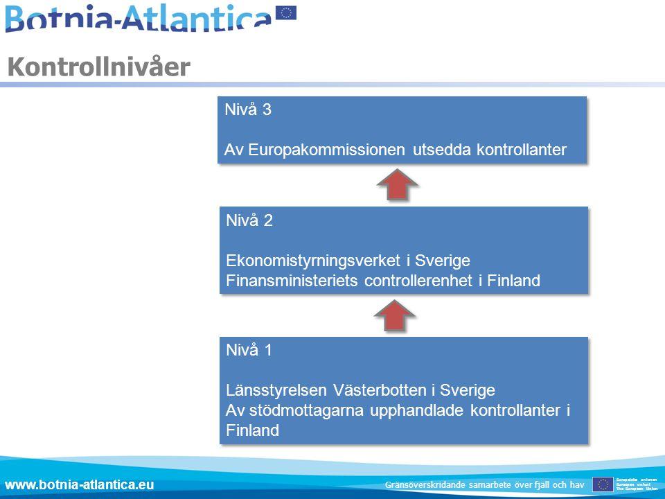 Kontrollnivåer Nivå 3 Av Europakommissionen utsedda kontrollanter