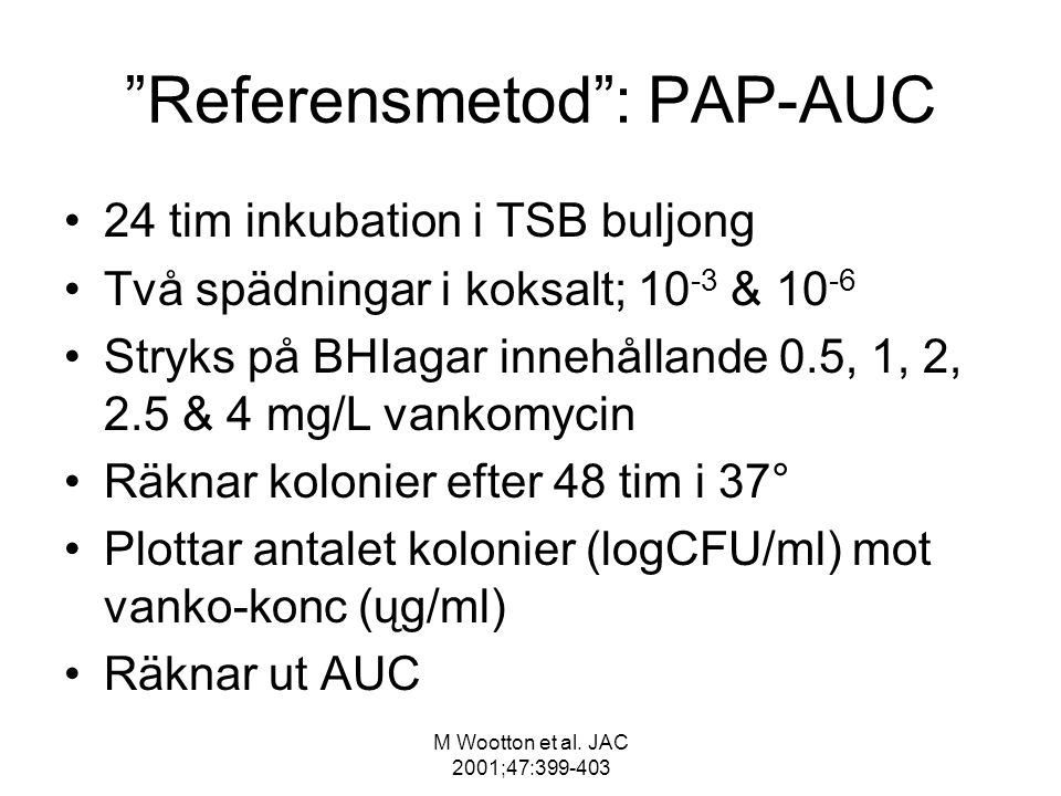 Referensmetod : PAP-AUC