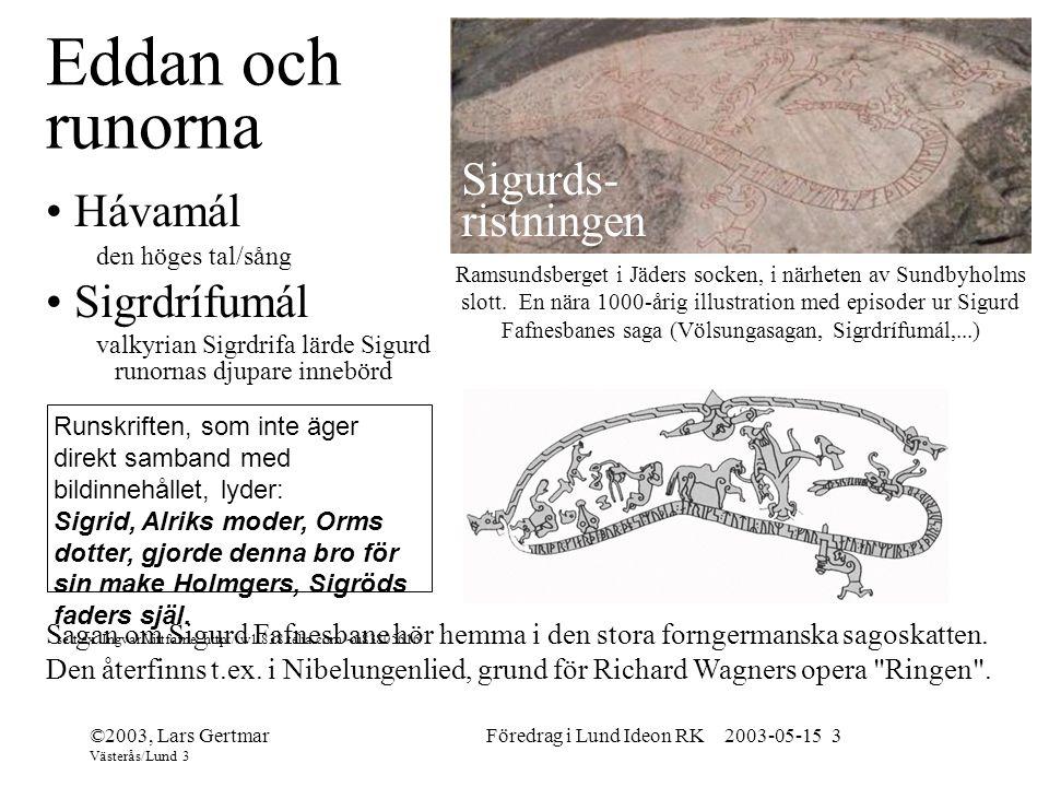 Föredrag i Lund Ideon RK 2003-05-15 3