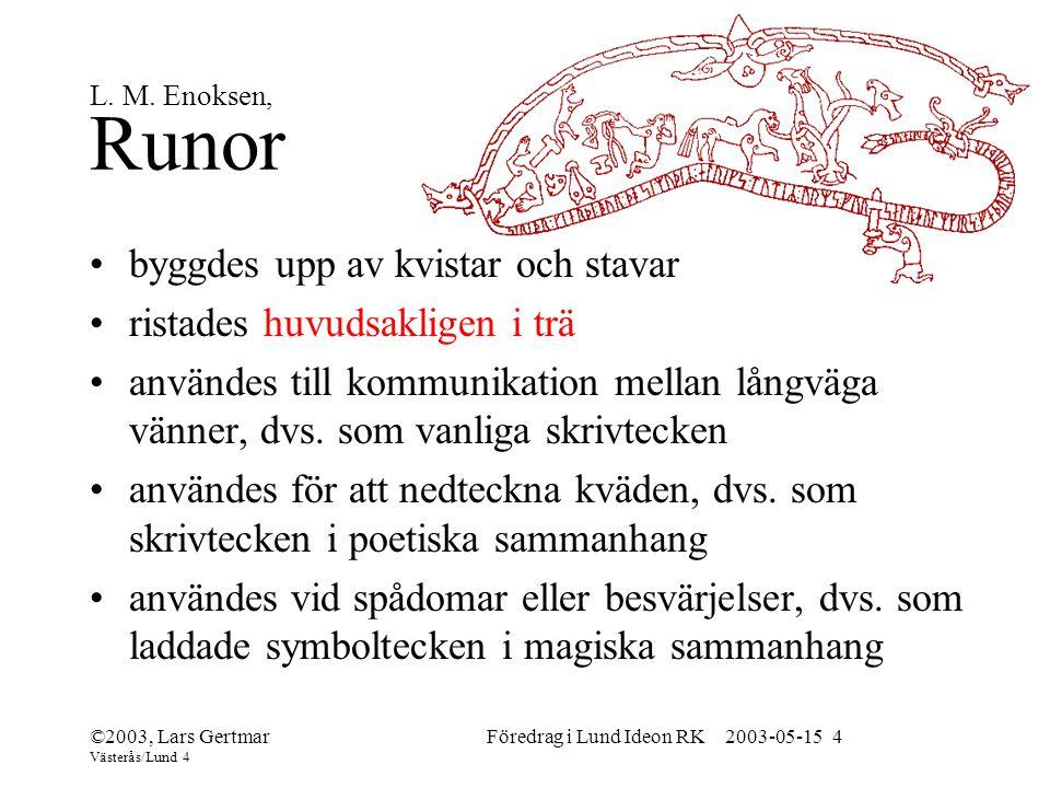 Föredrag i Lund Ideon RK 2003-05-15 4