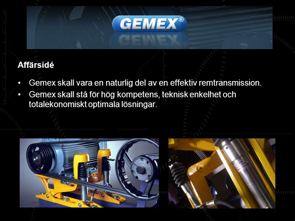 Affärsidé Gemex skall vara en naturlig del av en effektiv remtransmission.