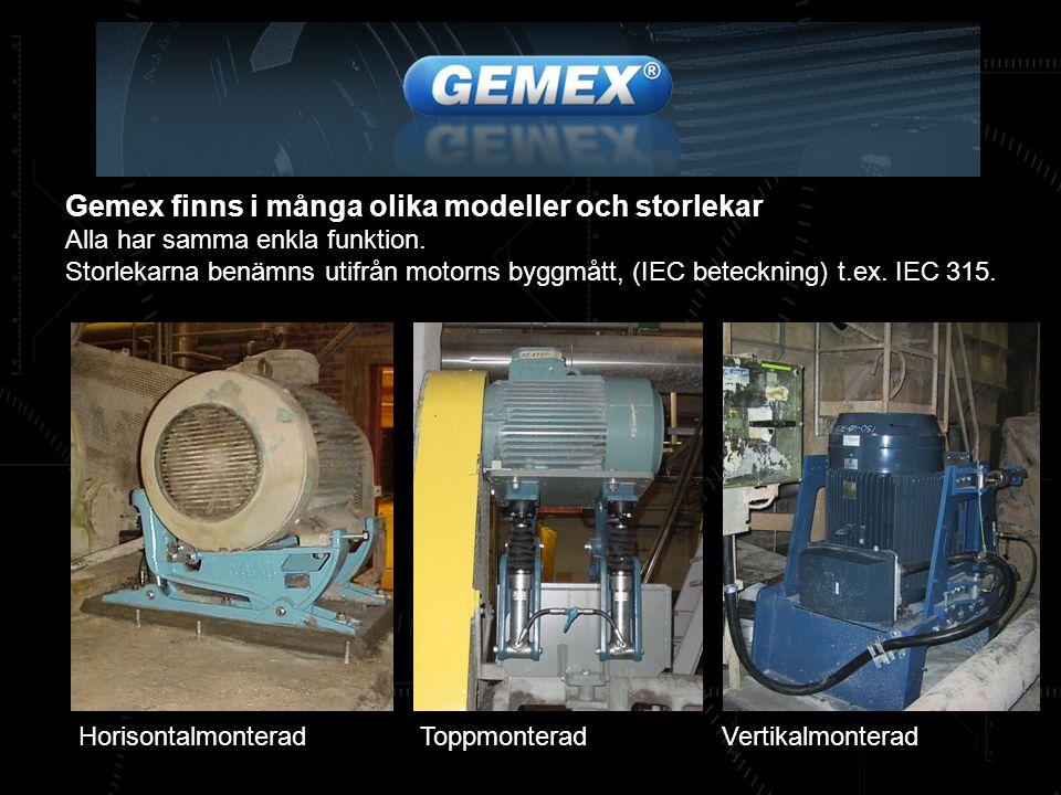 Gemex finns i många olika modeller och storlekar