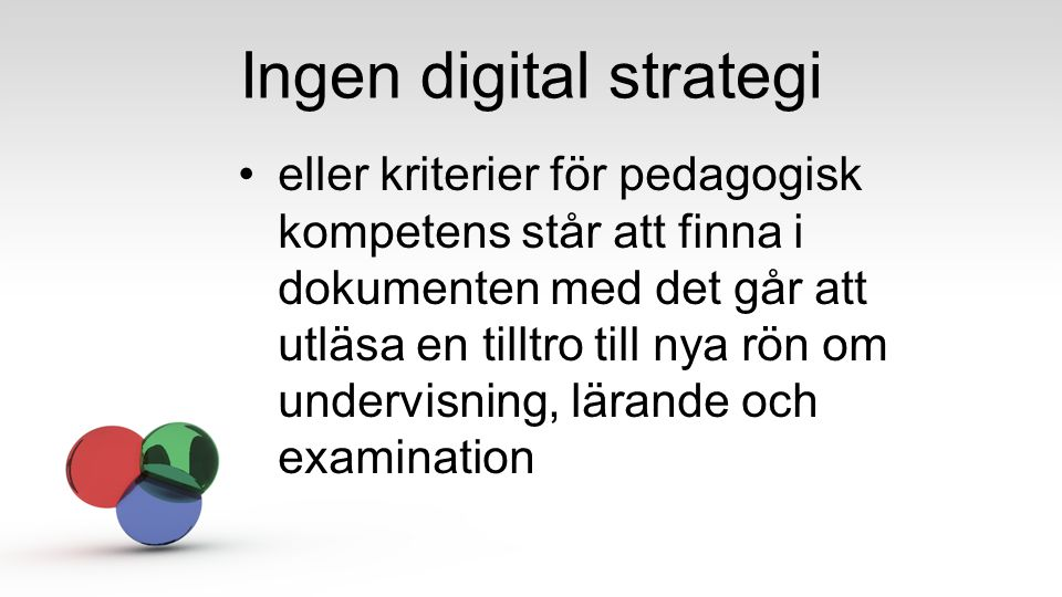 Ingen digital strategi