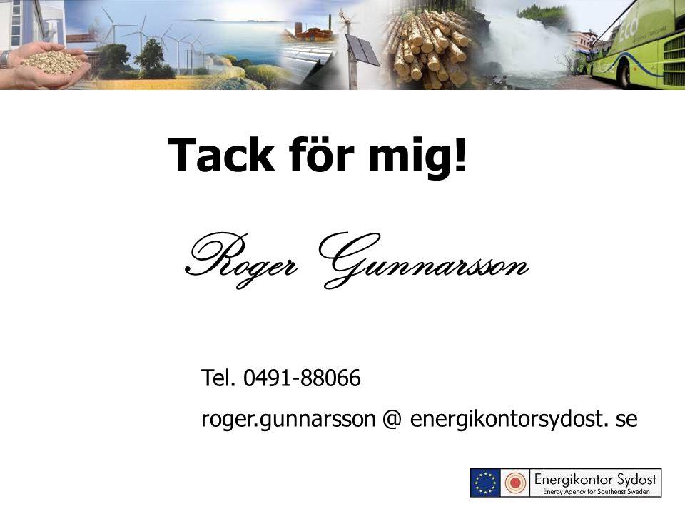 Tack för mig! Roger Gunnarsson Tel. 0491-88066