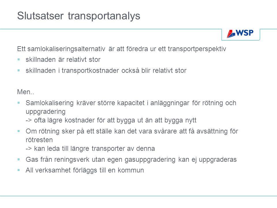 Slutsatser transportanalys
