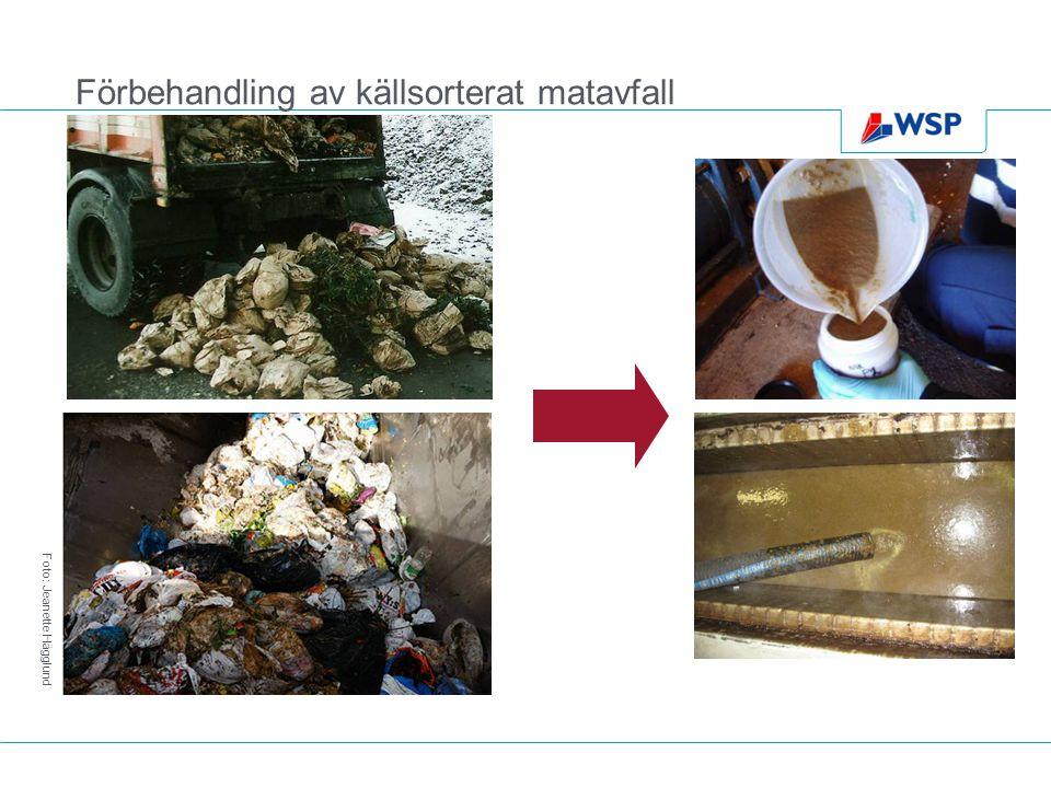 Förbehandling av källsorterat matavfall