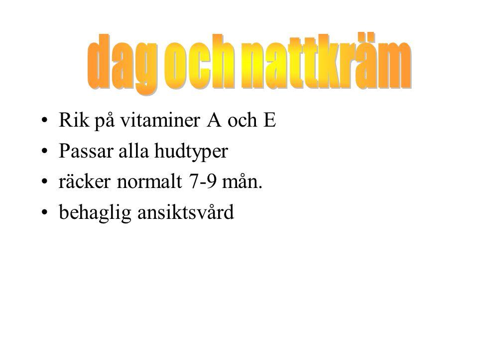 dag och nattkräm Rik på vitaminer A och E Passar alla hudtyper