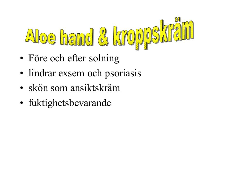 Aloe hand & kroppskräm Före och efter solning