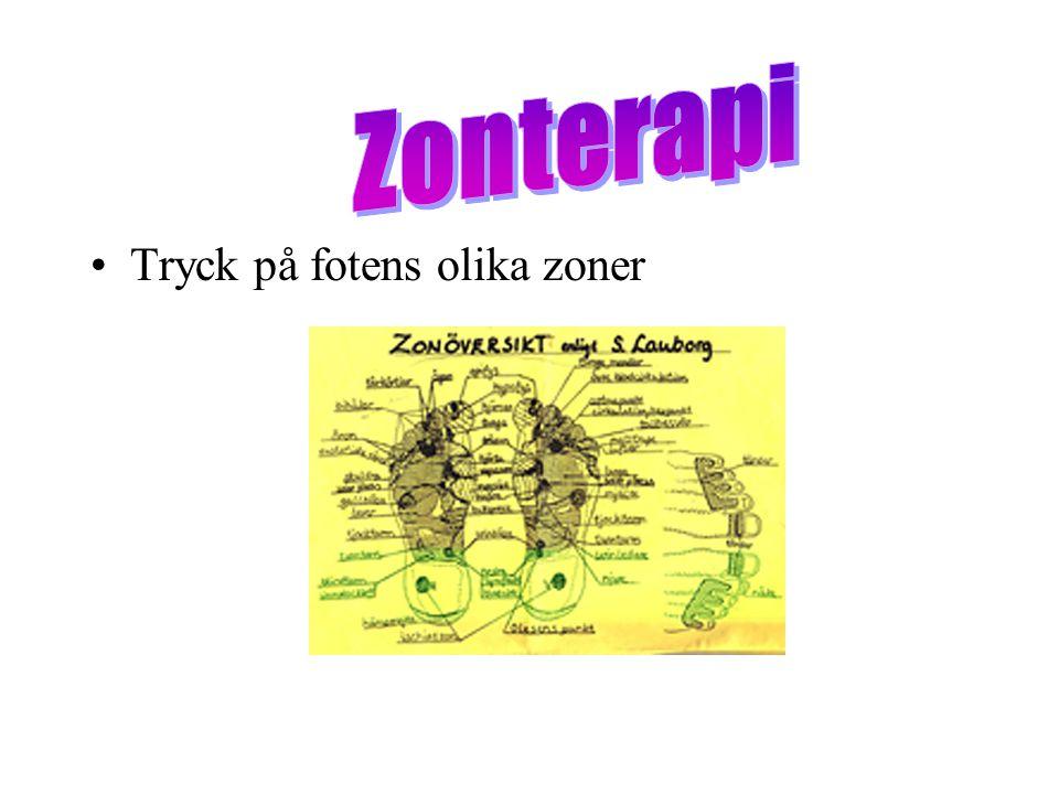 Zonterapi Tryck på fotens olika zoner