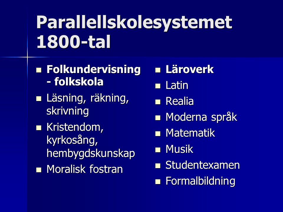 Parallellskolesystemet 1800-tal