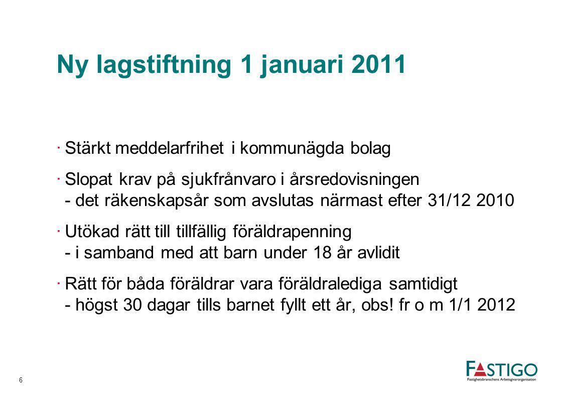 Ny lagstiftning 1 januari 2011