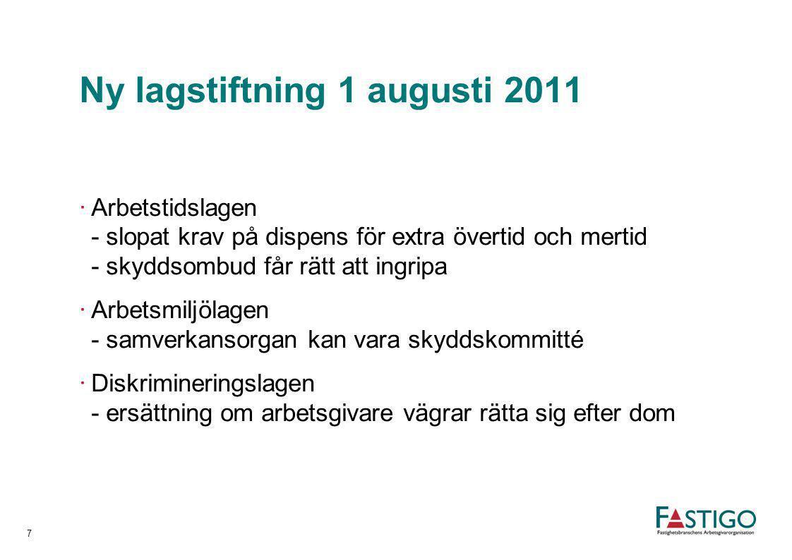 Ny lagstiftning 1 augusti 2011