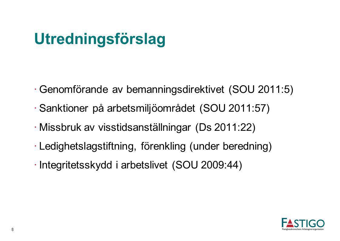 Utredningsförslag Genomförande av bemanningsdirektivet (SOU 2011:5)