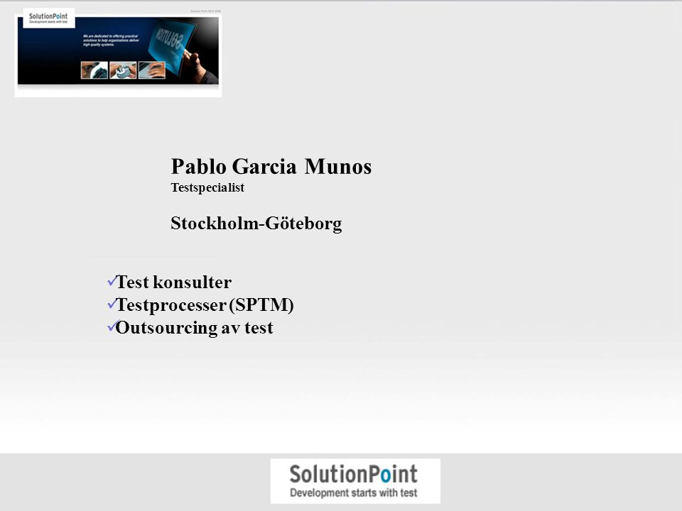 Pablo Garcia Munos Stockholm-Göteborg Test konsulter