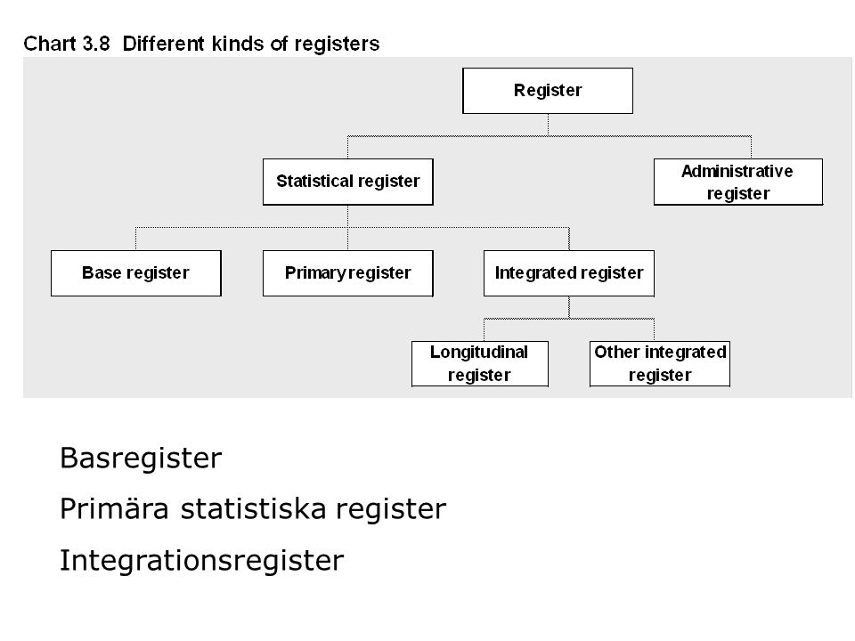 Basregister Primära statistiska register Integrationsregister