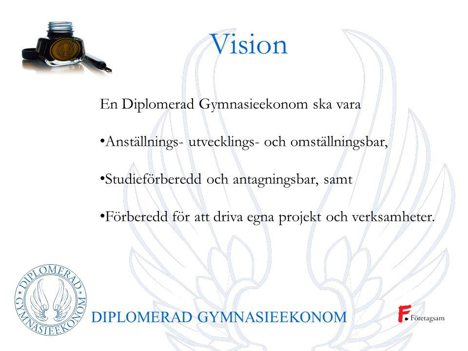 Vision En Diplomerad Gymnasieekonom ska vara