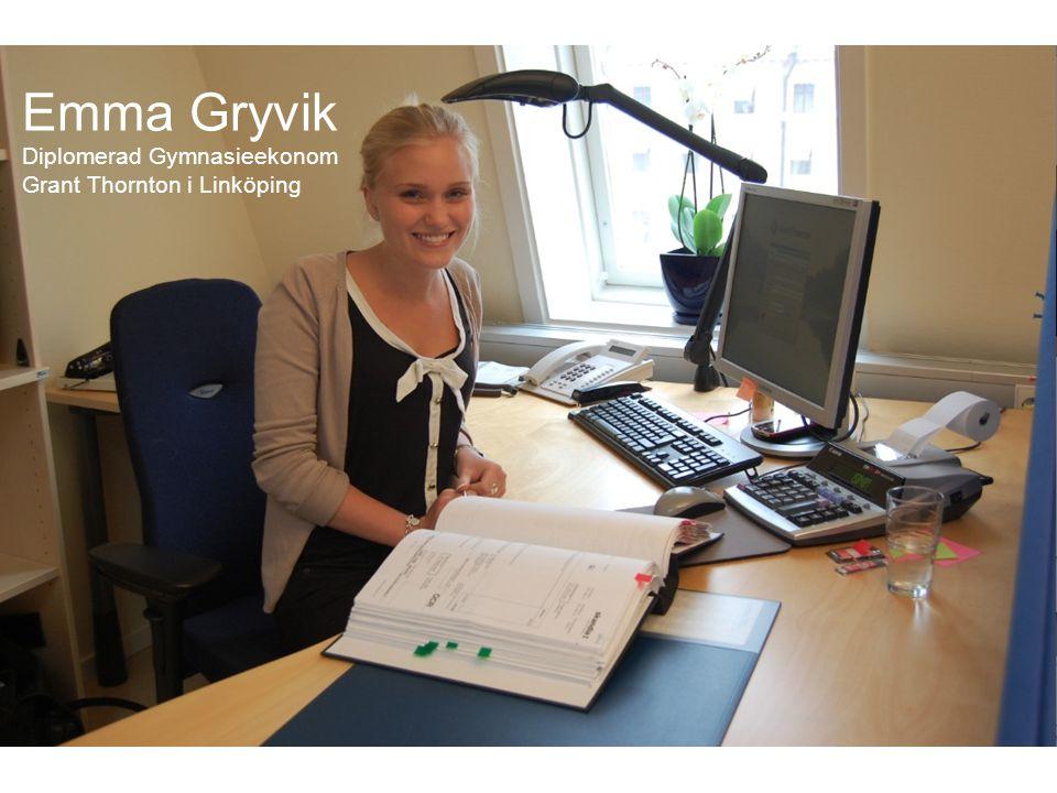 Emma Gryvik Diplomerad Gymnasieekonom Grant Thornton i Linköping