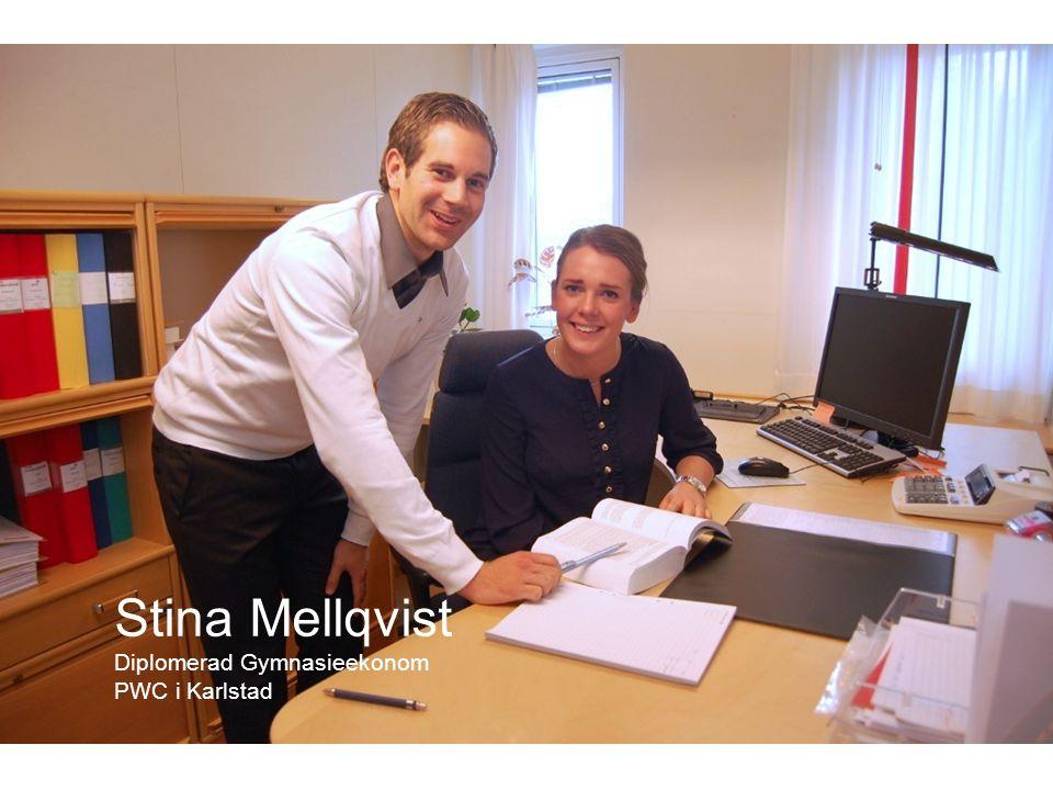 Stina Mellqvist Diplomerad Gymnasieekonom PWC i Karlstad