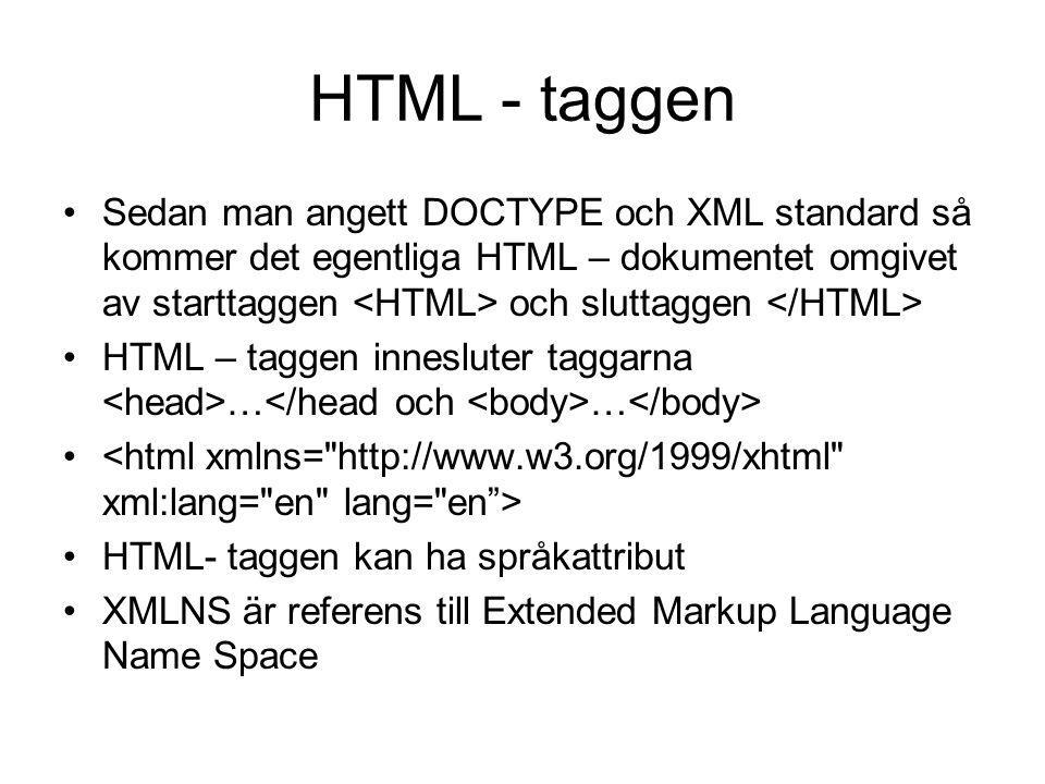 HTML - taggen