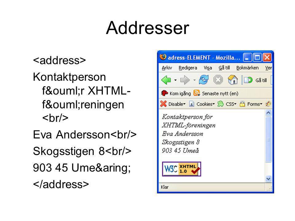 Addresser <address>