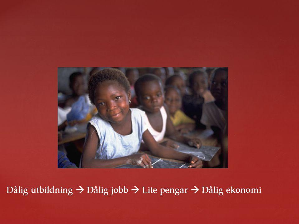 Dålig utbildning  Dålig jobb  Lite pengar  Dålig ekonomi