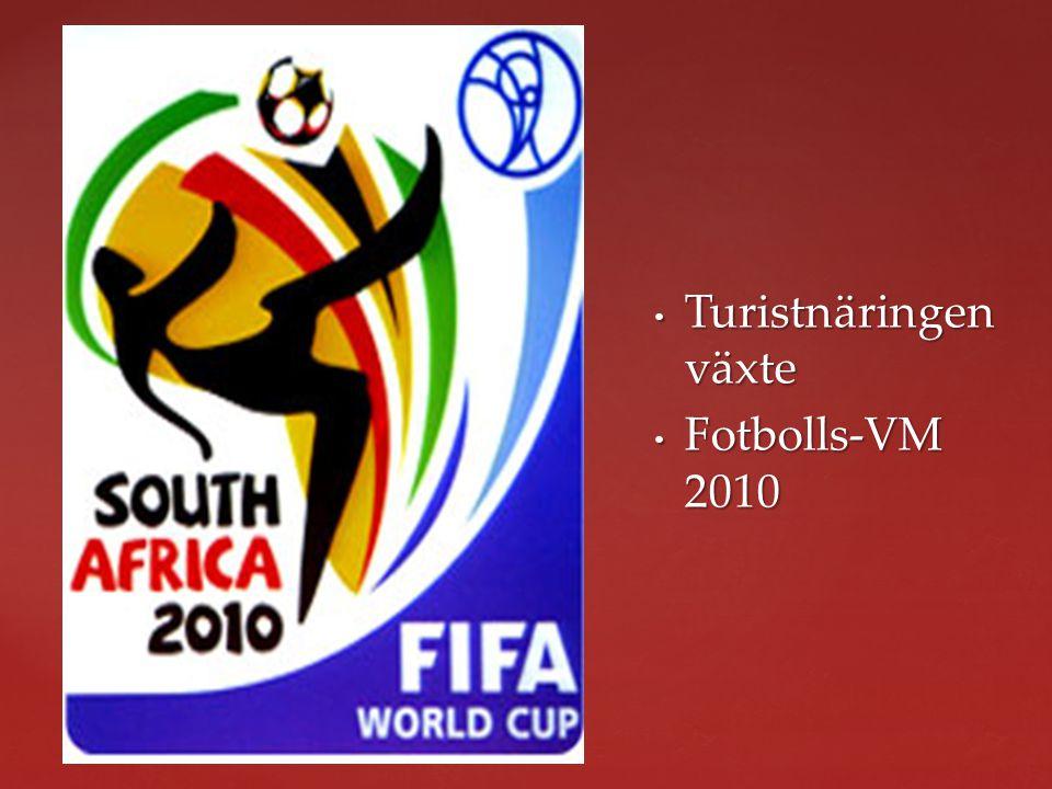 Turistnäringen växte Fotbolls-VM 2010