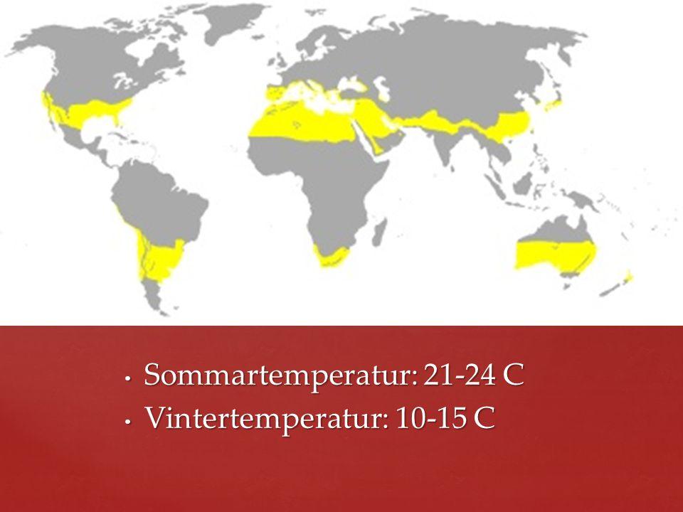 Sommartemperatur: 21-24 C Vintertemperatur: 10-15 C