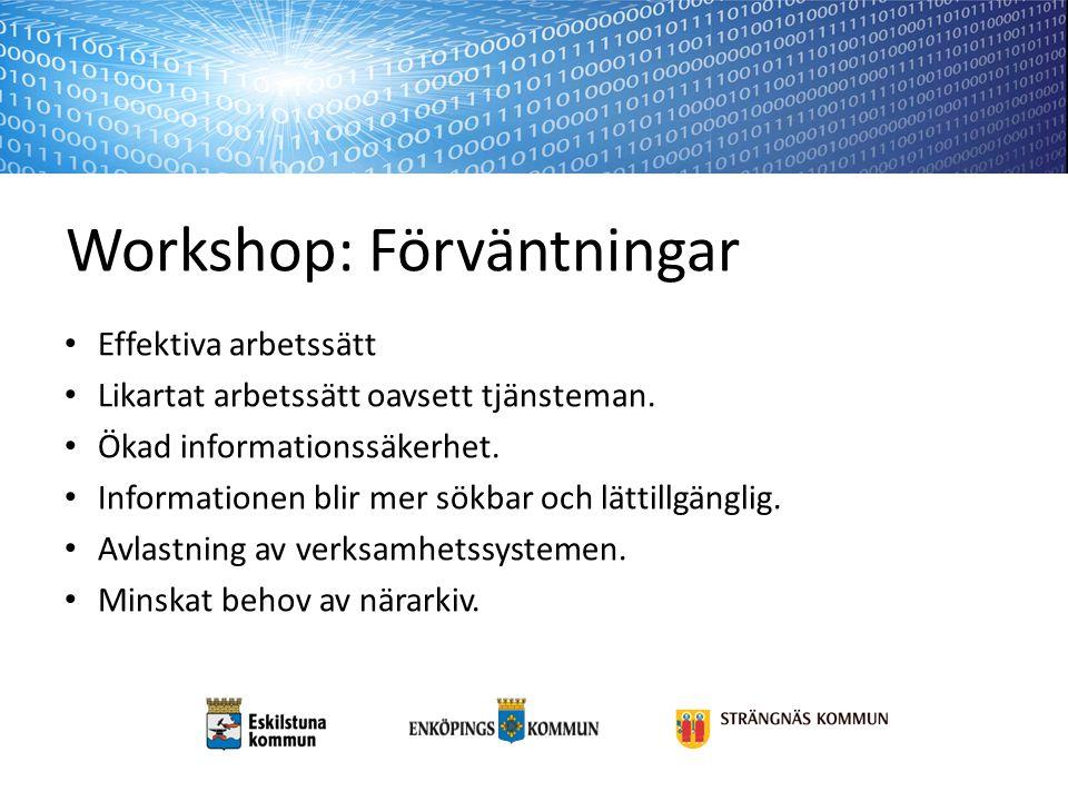 Workshop: Förväntningar
