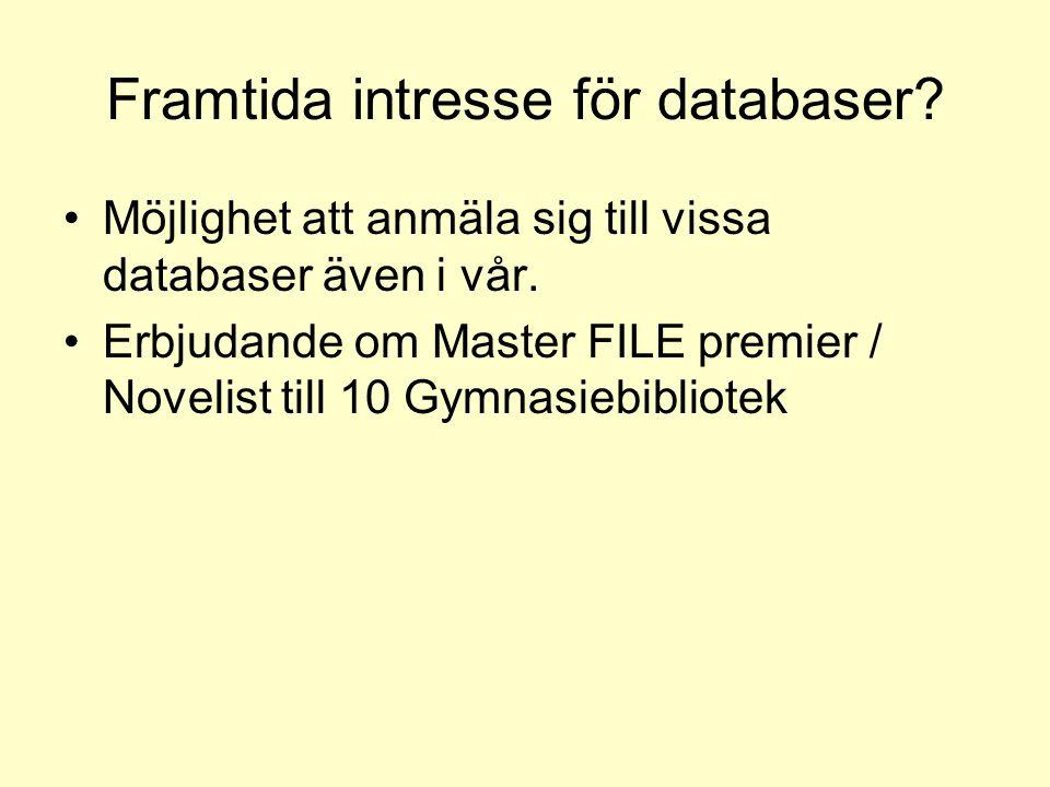 Framtida intresse för databaser
