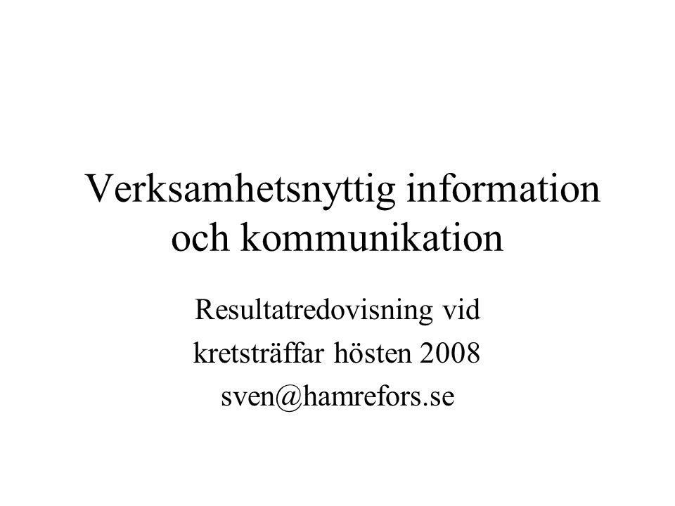 Verksamhetsnyttig information och kommunikation