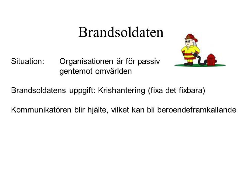 Brandsoldaten Situation: Organisationen är för passiv