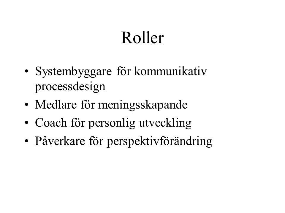 Roller Systembyggare för kommunikativ processdesign