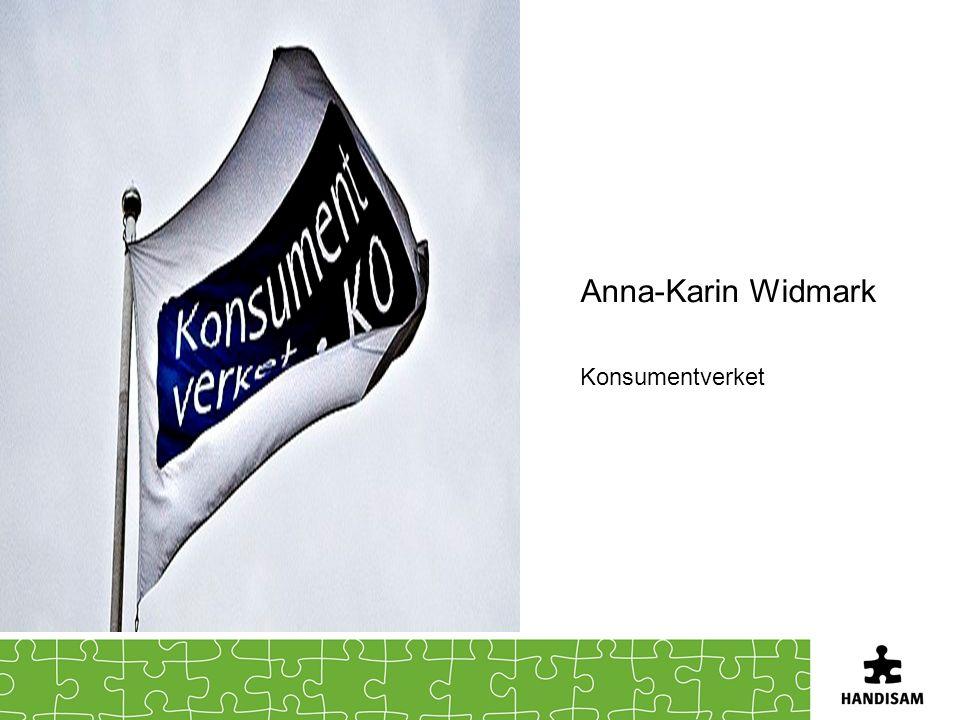 Anna-Karin Widmark Konsumentverket