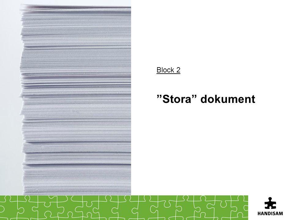 Block 2 Stora dokument
