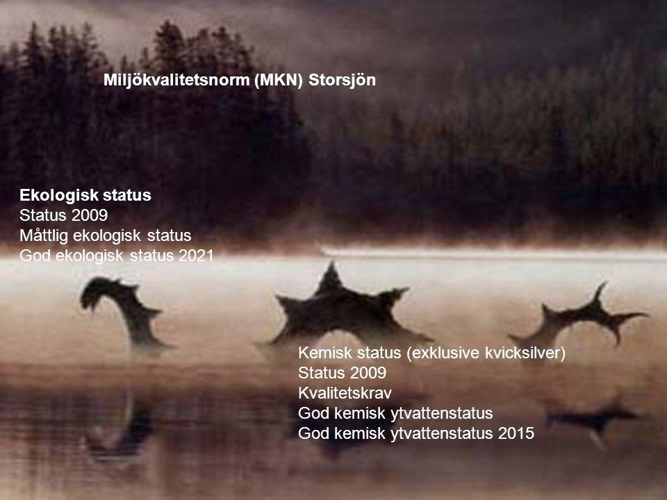 Miljökvalitetsnorm (MKN) Storsjön