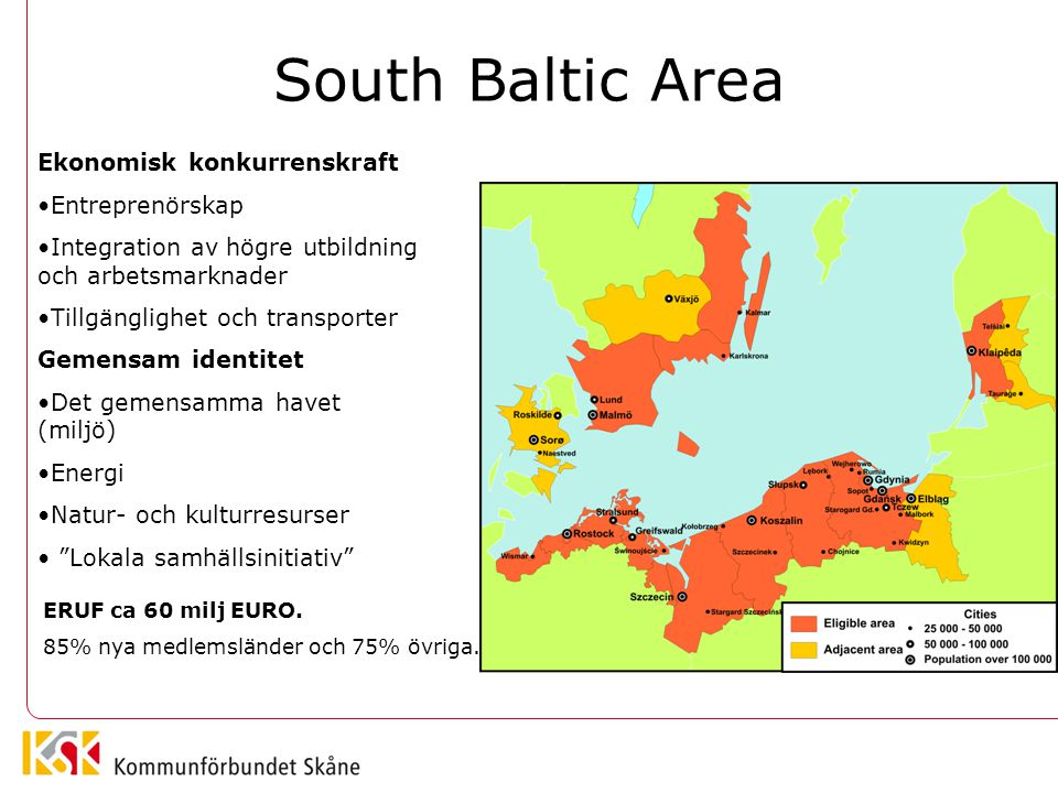 South Baltic Area Ekonomisk konkurrenskraft Entreprenörskap