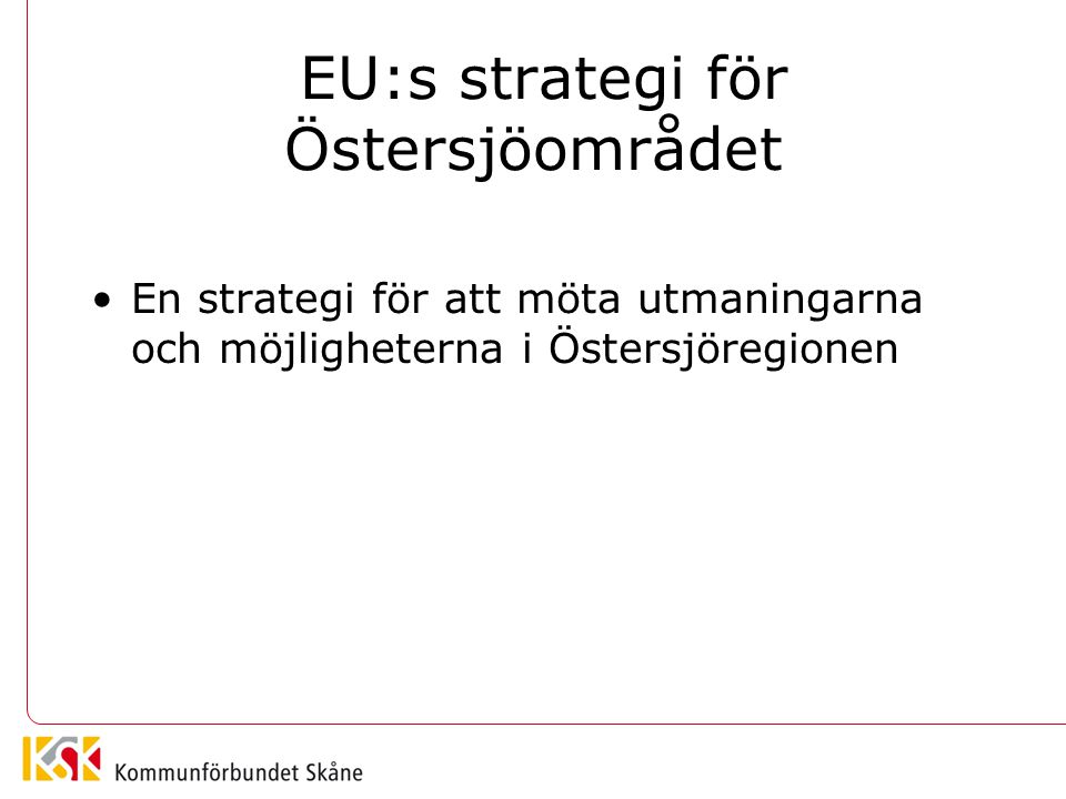 EU:s strategi för Östersjöområdet