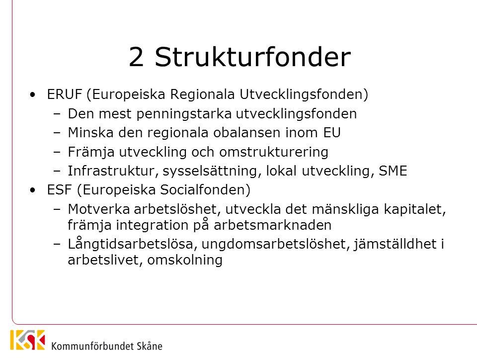 2 Strukturfonder ERUF (Europeiska Regionala Utvecklingsfonden)
