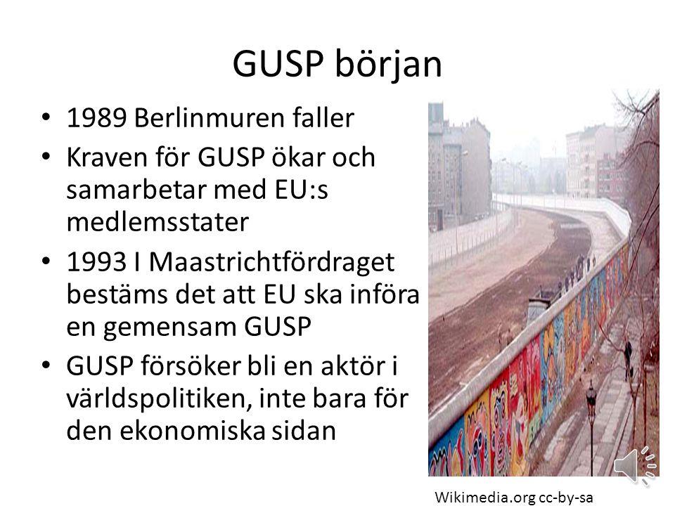 GUSP början 1989 Berlinmuren faller