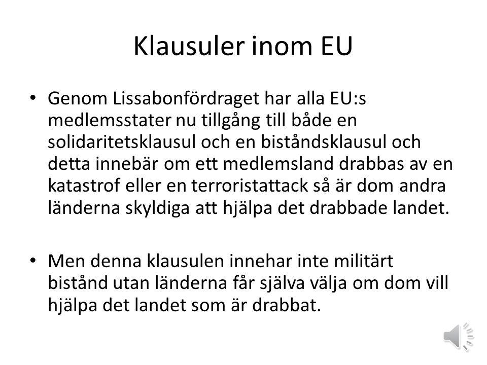 Klausuler inom EU