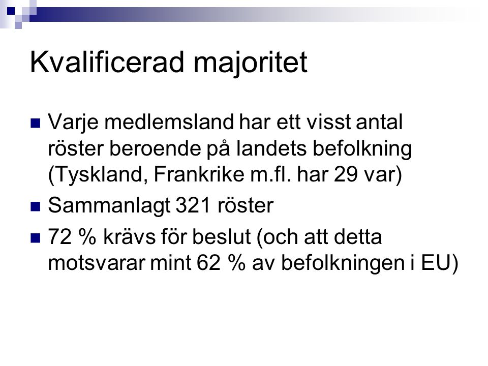 Kvalificerad majoritet