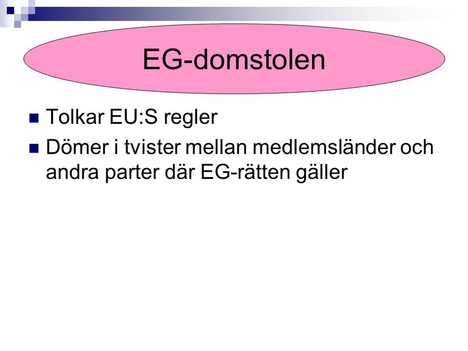 EG-domstolen Tolkar EU:S regler